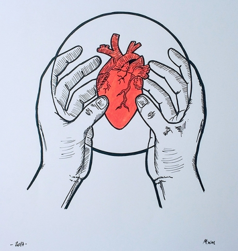 corazón de muestra - couche paper 300 gr.