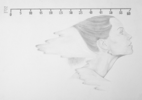 Dermoesthetique - pencil on paper - 50 x 70 cm