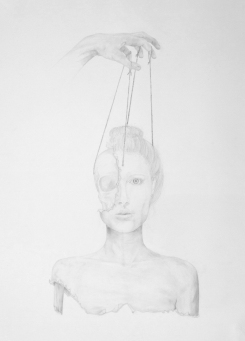 Marionnette II - pencil on paper - 50 x 70 cm
