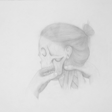 Marionnette I - pencil on paper - 35 x 35 cm