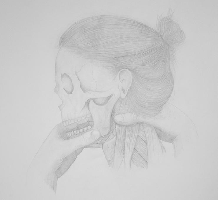 Marionette I - pencil on paper - 35 x 35 cm