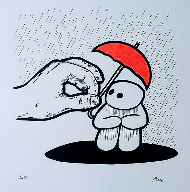 someone to cover safe from the rain - couche paper 300 gr.