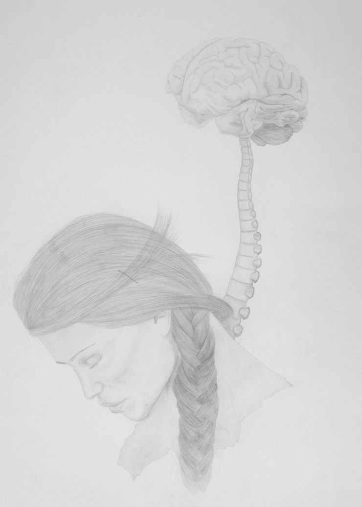The only site where i was alone - pencil on paper - 50 x 70 cm
