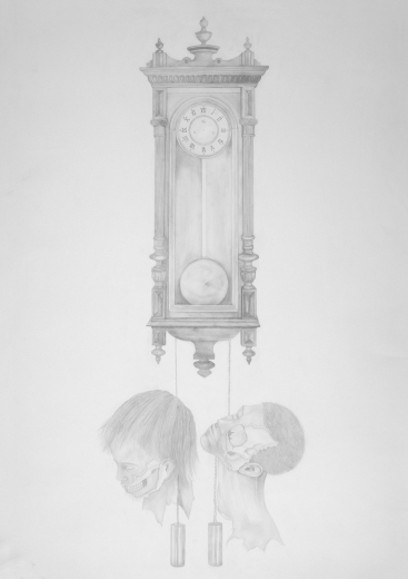 Time Kills - pencil on paper - 70 x 100 cm